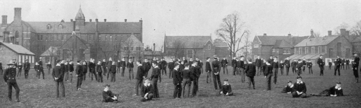 1912 Boys relaxing between lessons